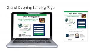Grand Opening Landing Page