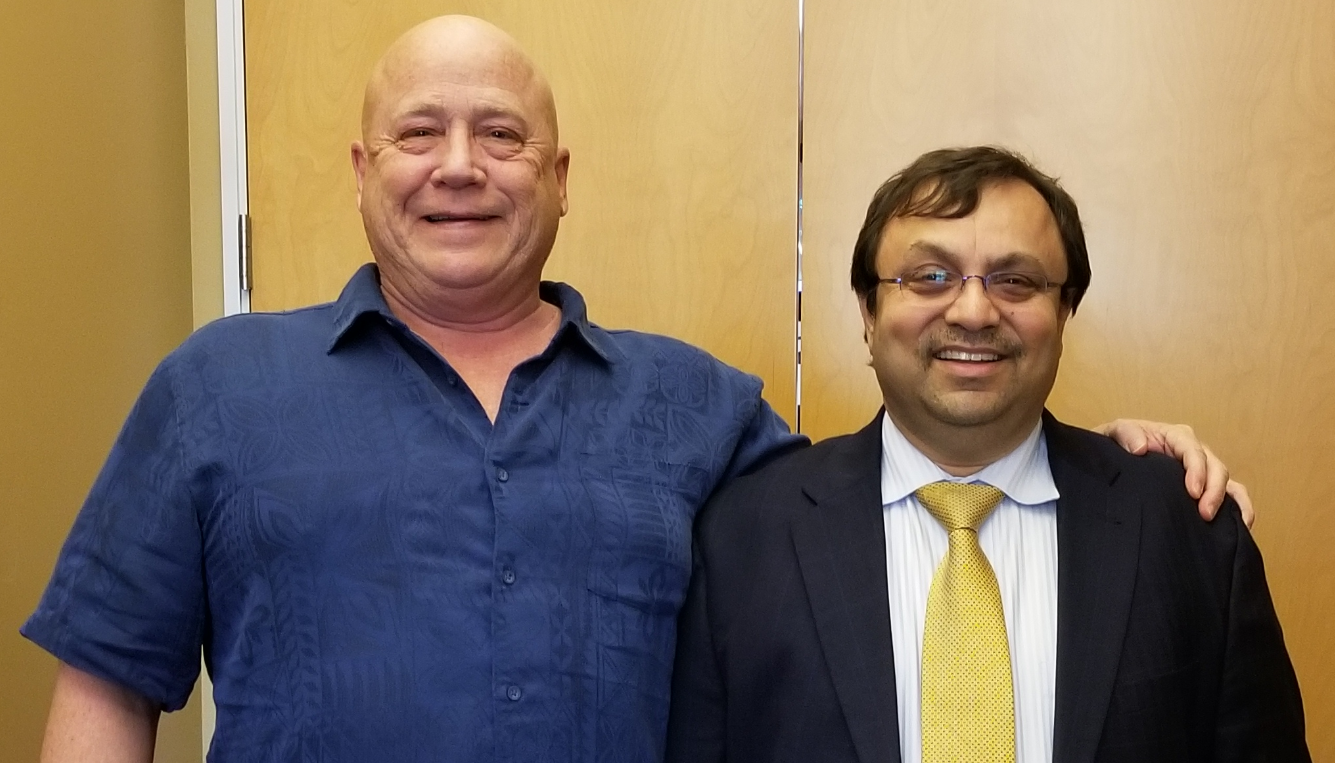 Parthiv Shah with Dr. Howard