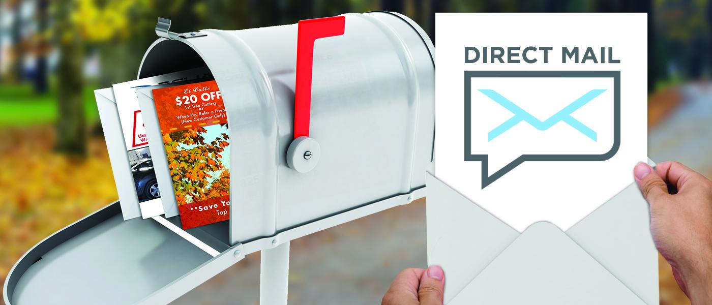Mailbox with marketing pieces