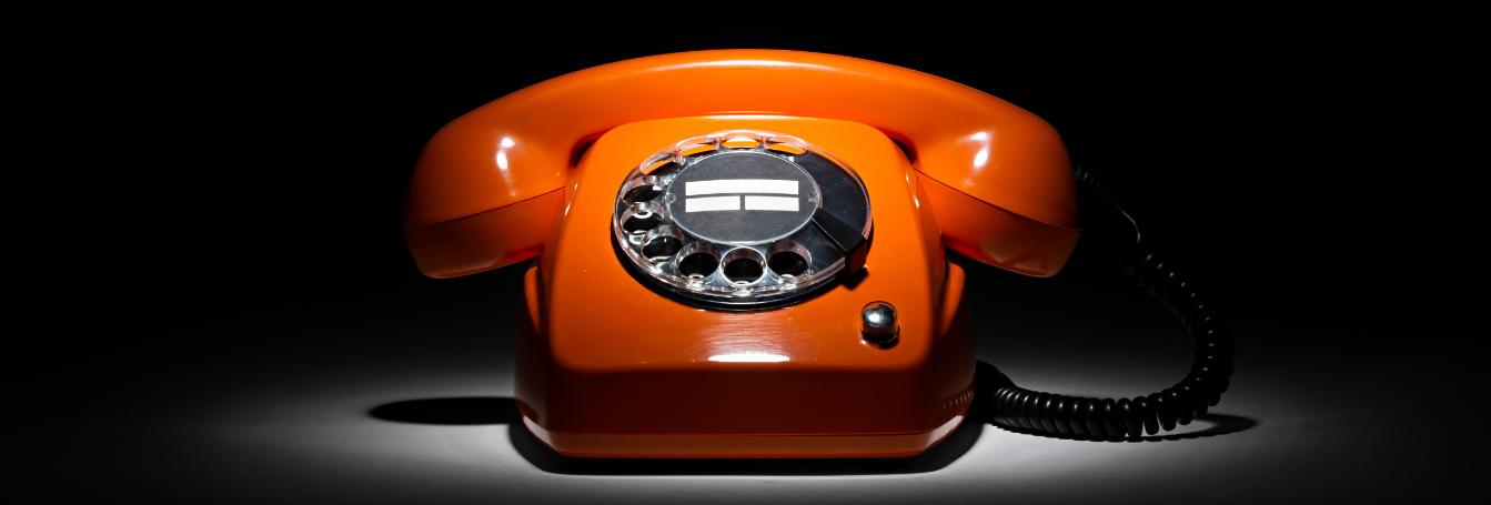 a rotary telephone
