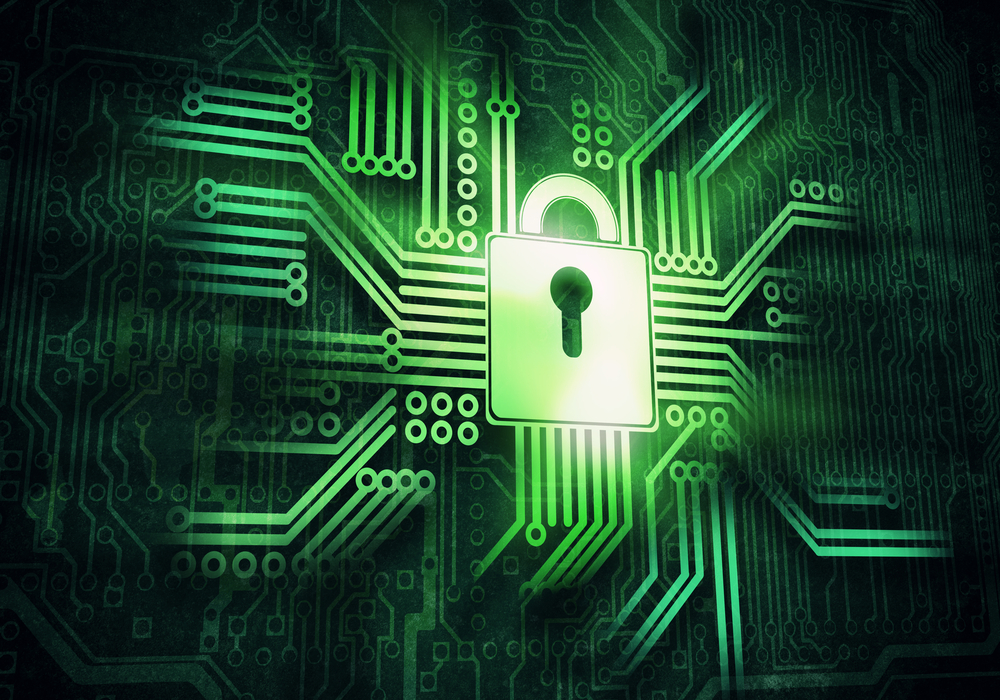 cybersecurity - a digitized lock in circuitry