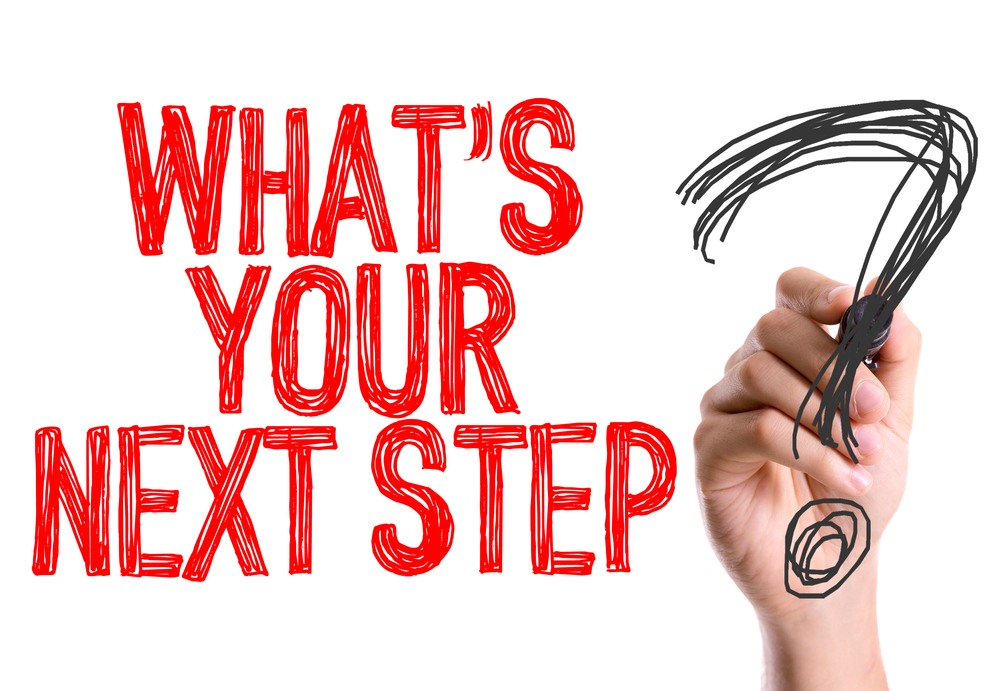 what's your next step with a question mark