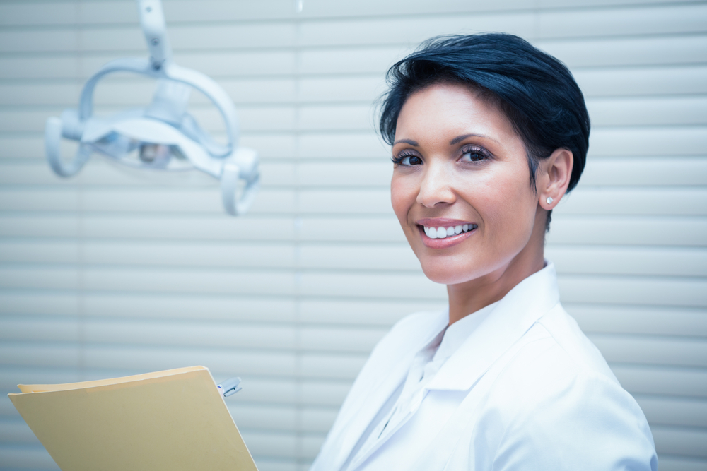 smiling female dentist