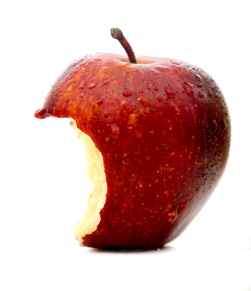 Partially eaten red apple - discussing  Apple's changes